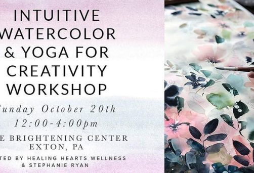 Intuitive Watercolor & Yoga for Creativity Workshop